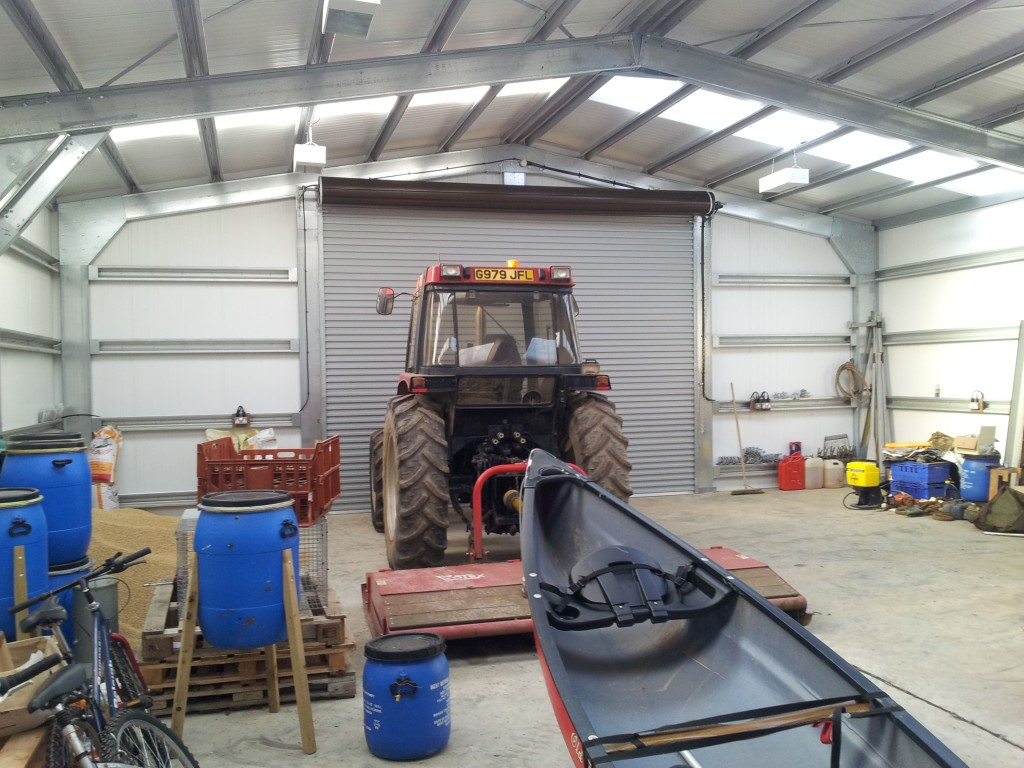 Tractor Storage Shed OZ-UK Steel Buildings (Norfolk) Ltd