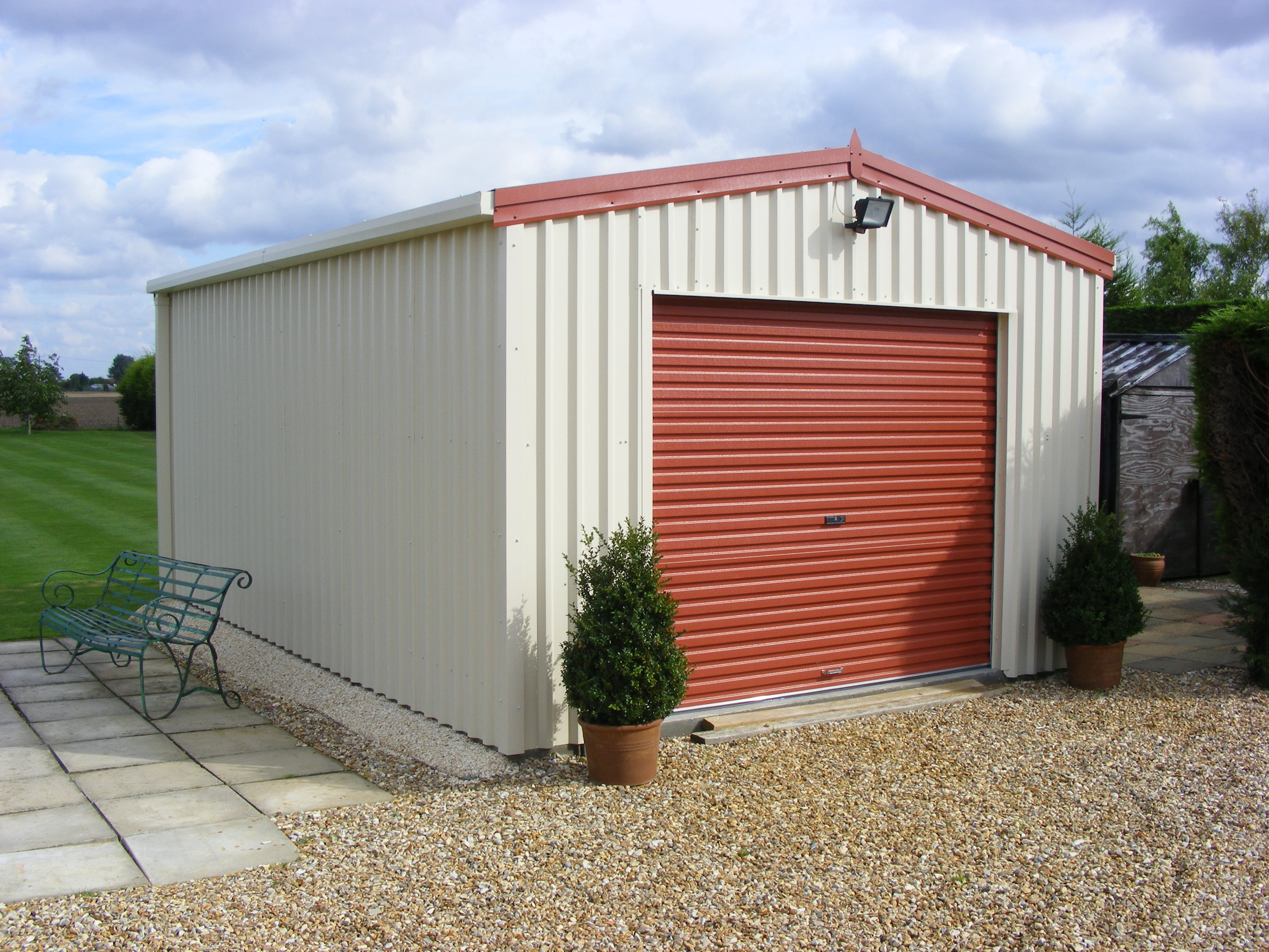 garages garage sectional florida door steel with and buildings supply central